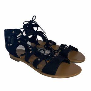 SO Womens Black Gladiator Sandals Size 8M